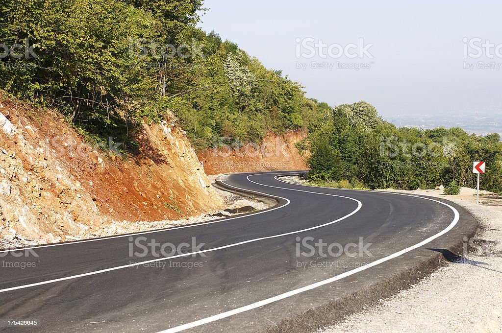 Winding Road (Click for more) stock photo
