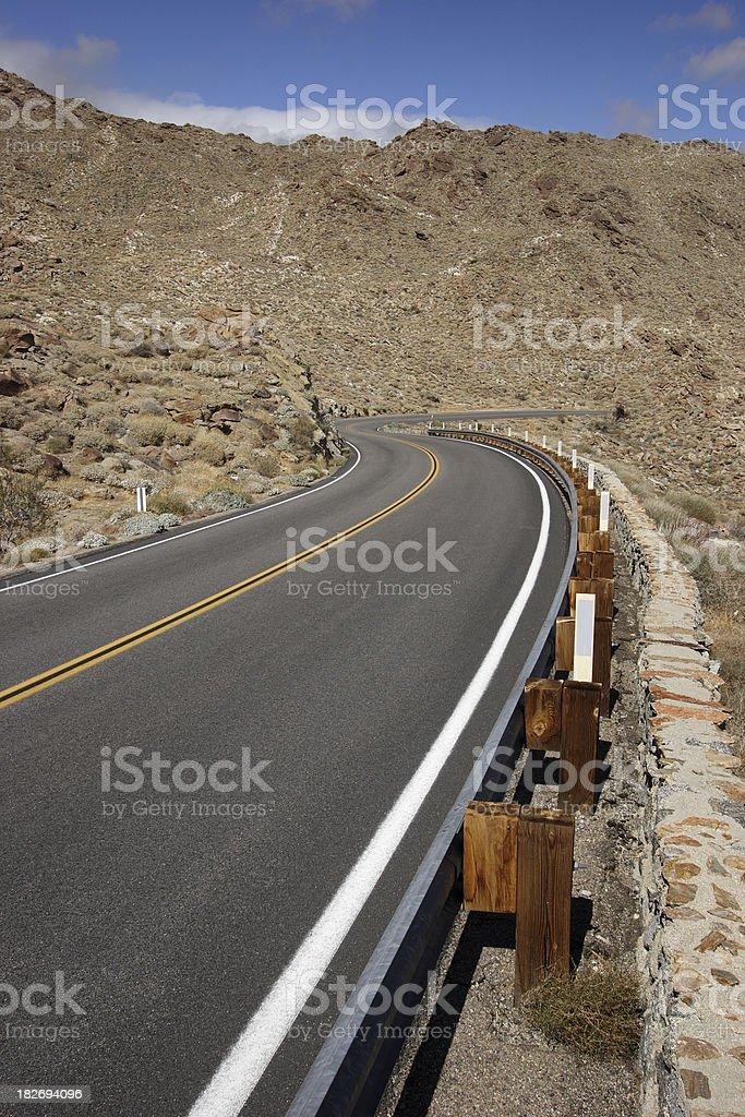 Winding Road Through Desert royalty-free stock photo