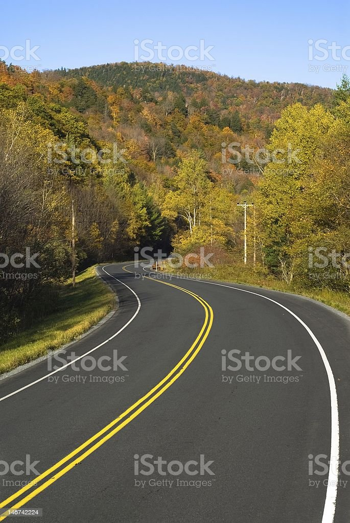 Winding scenic highway royalty-free stock photo