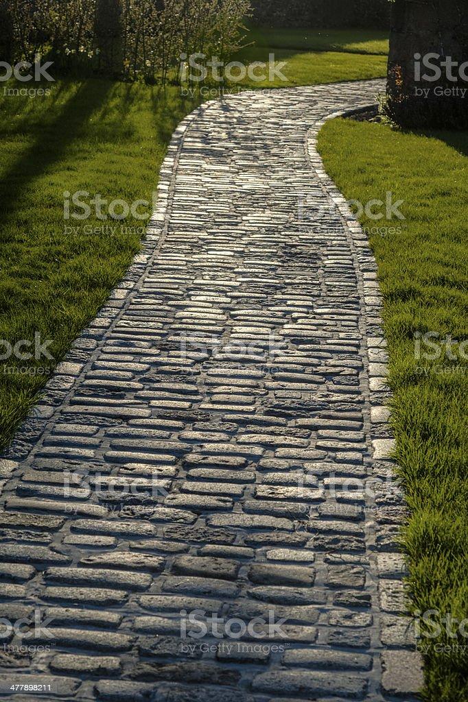 Winding Stone Pathway royalty-free stock photo