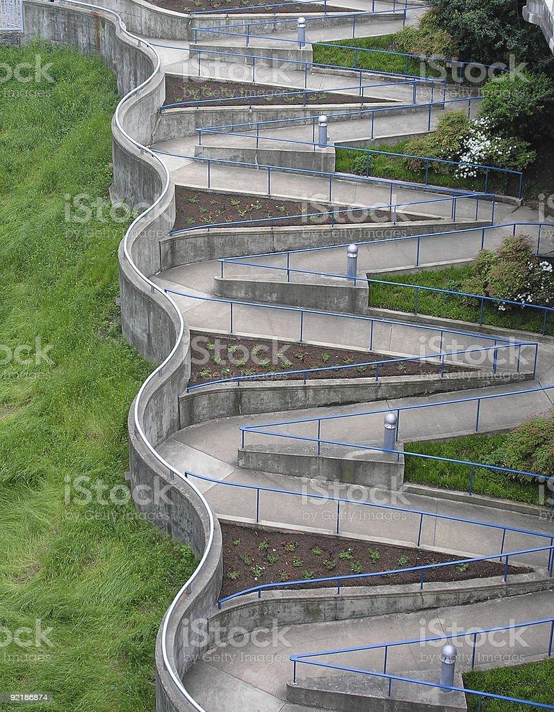 Winding Walkway royalty-free stock photo