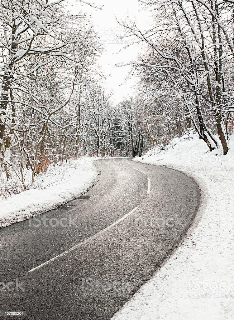 Winding Winter Road royalty-free stock photo