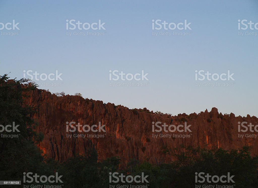 Windjana Gorge in Western Australia stock photo