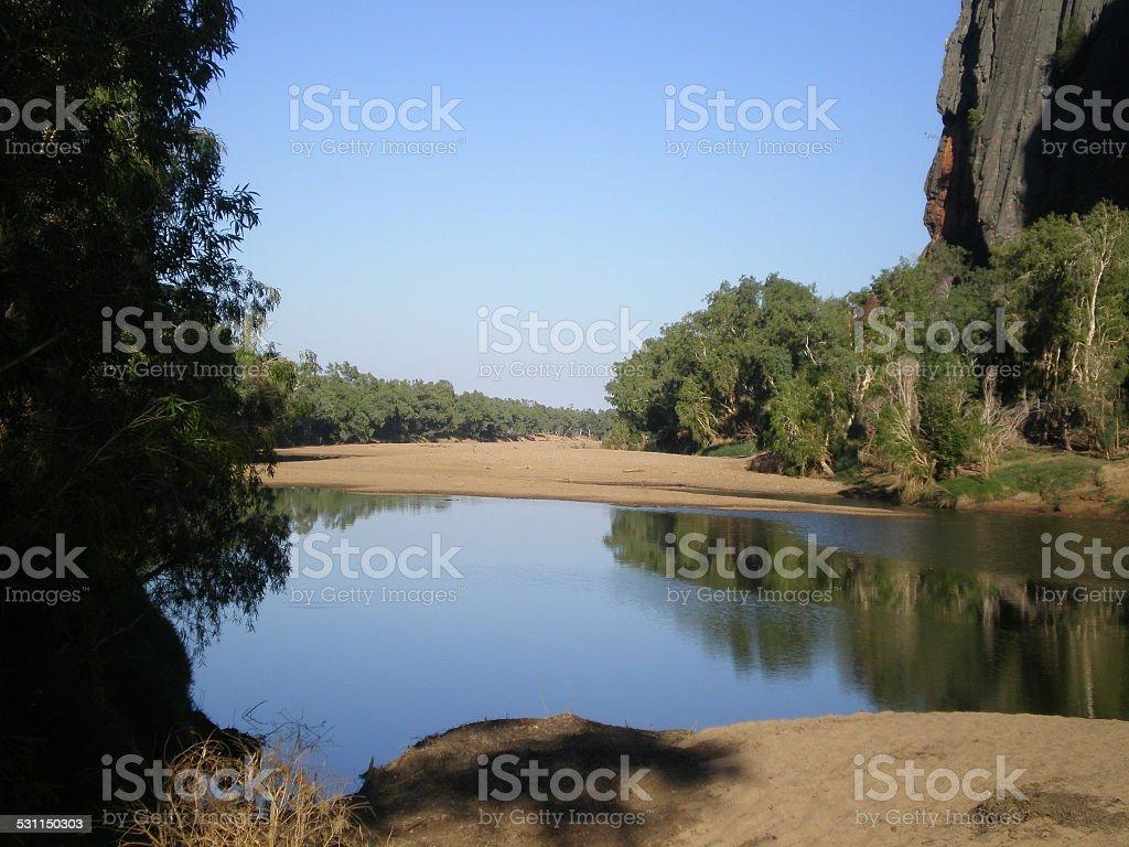 Windjana Gorge in Western Australia stock photo