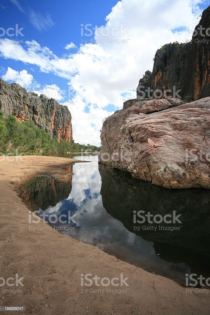 Windjana Gorge, Kimberleys Mountain Range, Western Australia stock photo