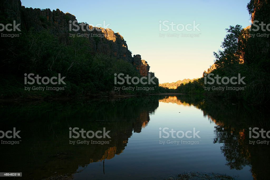 Windjana gorge western australia stock photo