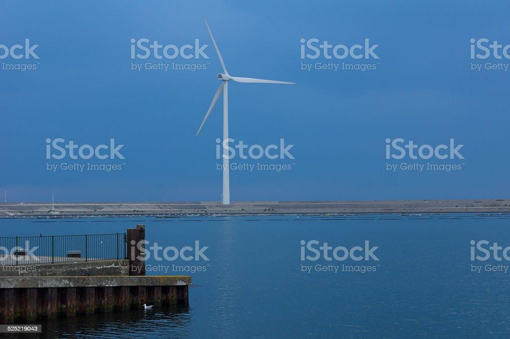Windkraft an der Nordsee stock photo