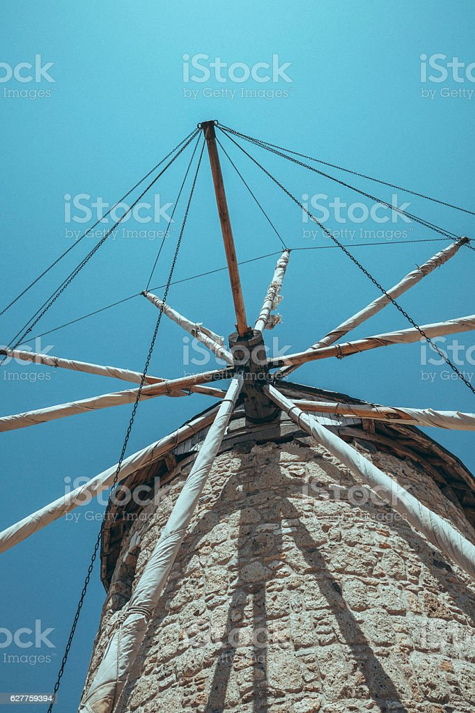 Windmill, Alacati / Turkey stock photo