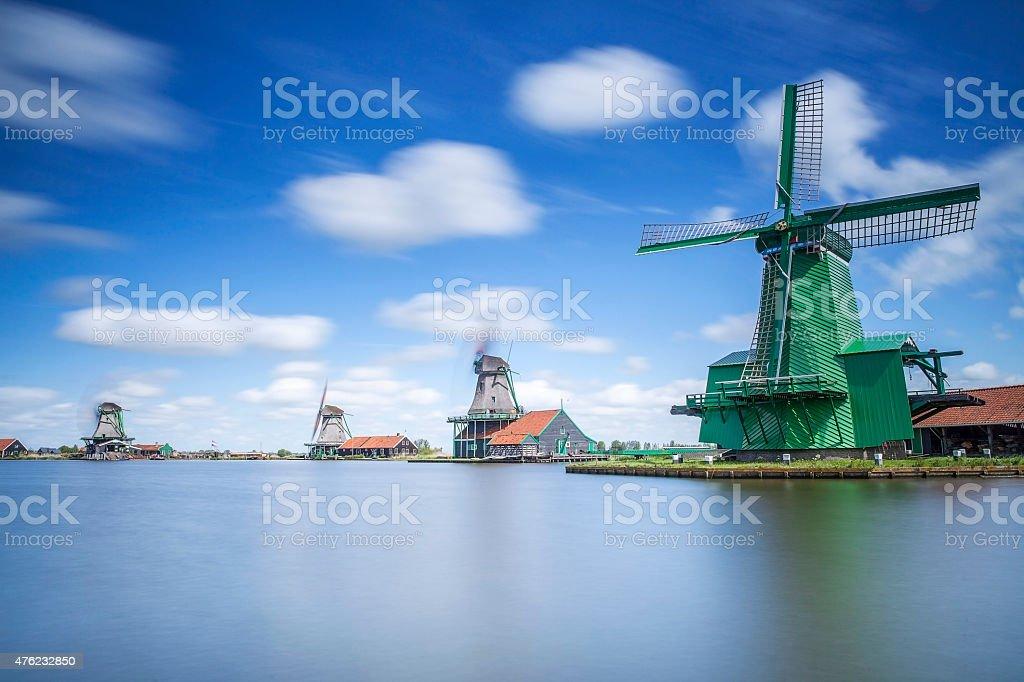 Windmill, Amsterdam stock photo