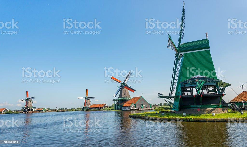 windmill amsterdam stock photo
