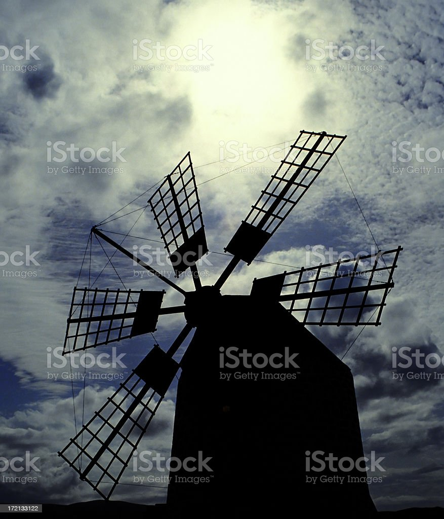 Windmill and Sky stock photo