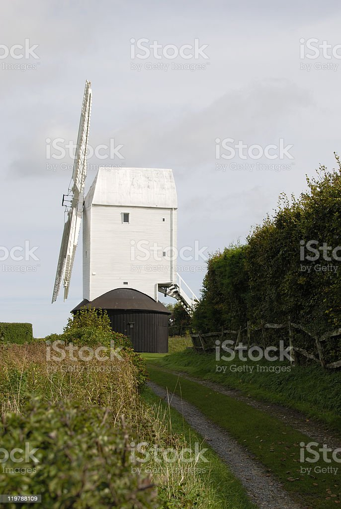 Windmill at Clayton. Brighton. Sussex. England stock photo