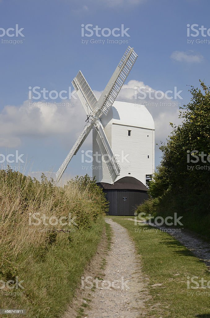 Windmill at Clayton. Sussex. England stock photo