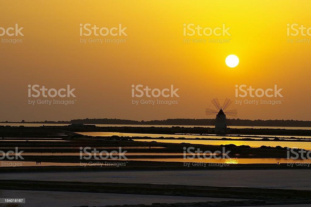 Windmill at Marsala royalty-free stock photo