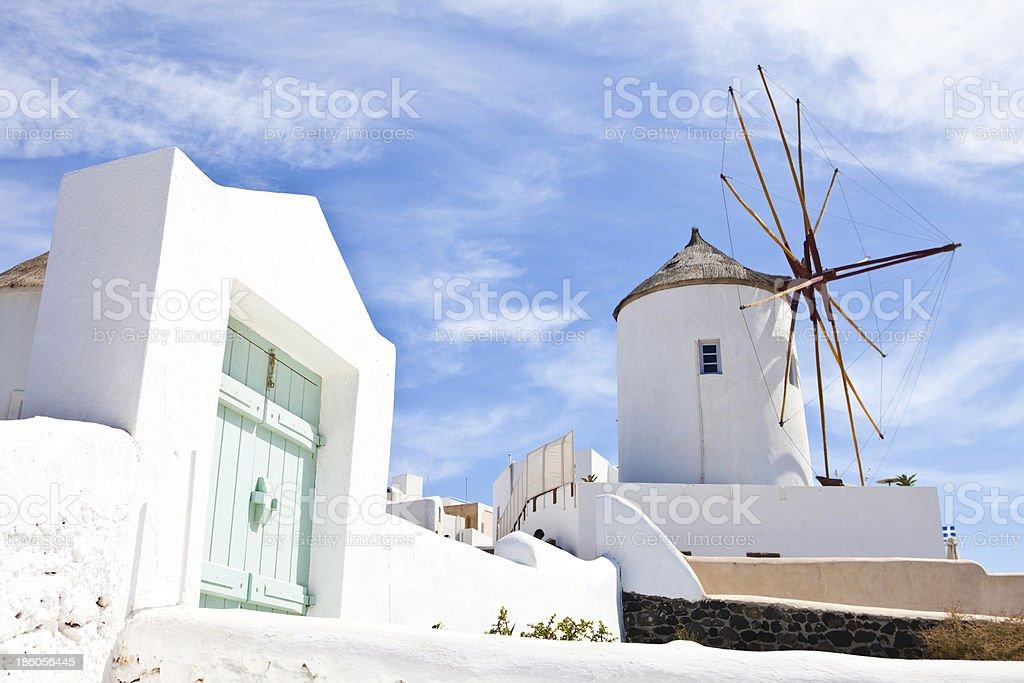 Windmill at Santorini royalty-free stock photo
