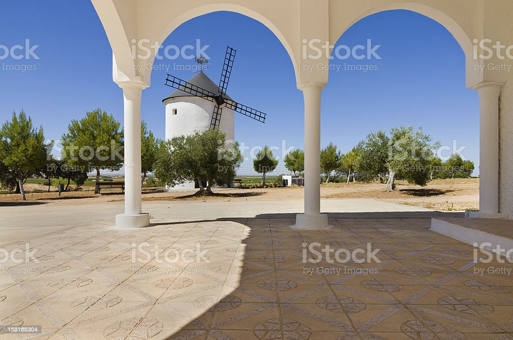 Windmill at the Hermitage of San Isidro stock photo