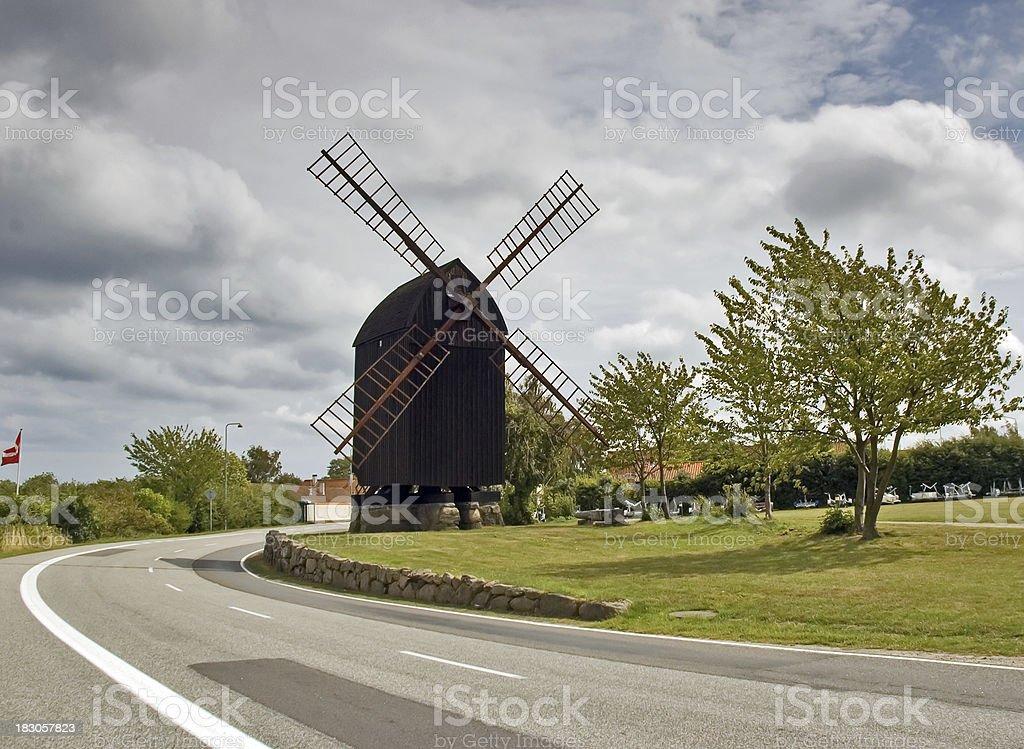 Windmill - Bornholm stock photo