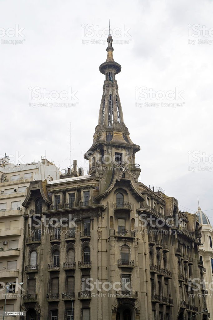 windmill building buenos aires city center royalty-free stock photo
