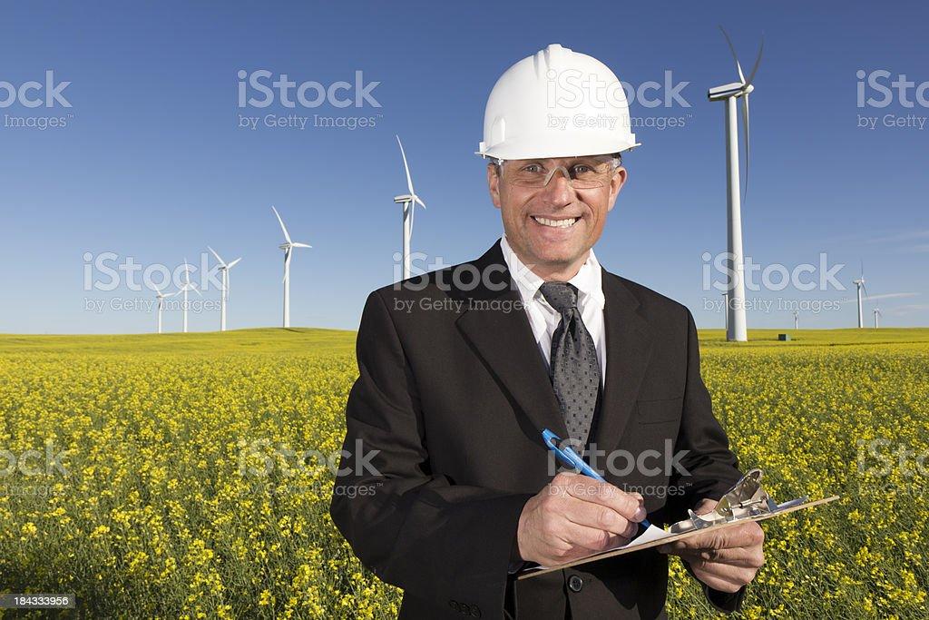 Windmill Business royalty-free stock photo