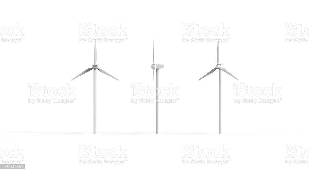 Windmill different views stock photo