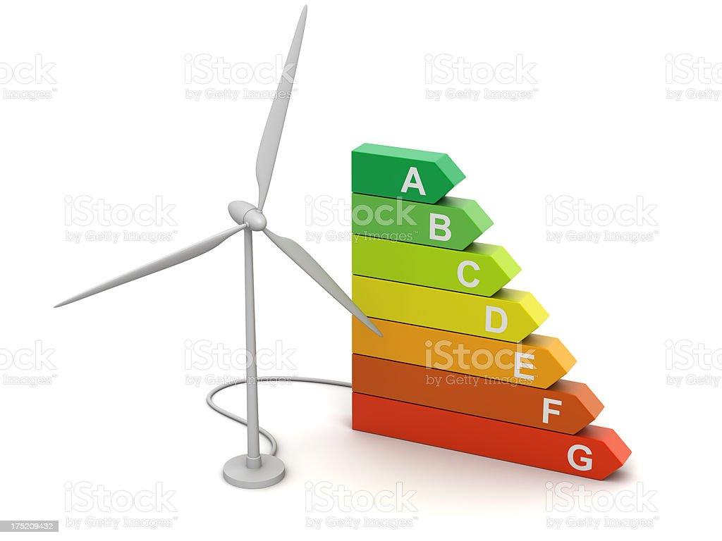 Windmill energy royalty-free stock photo