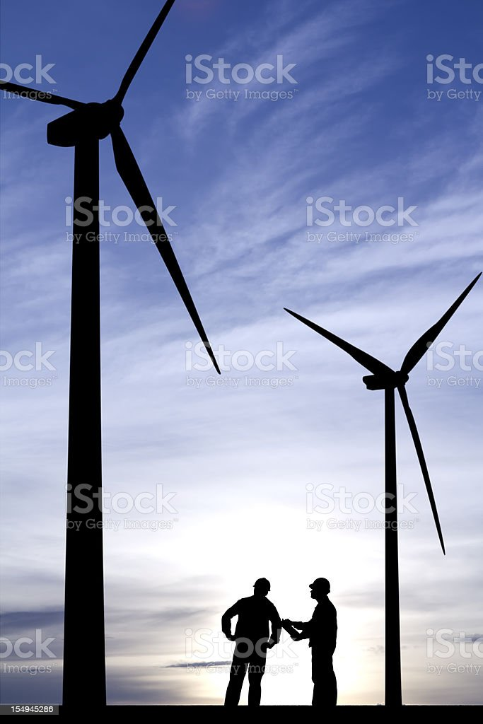 Windmill Engineers royalty-free stock photo