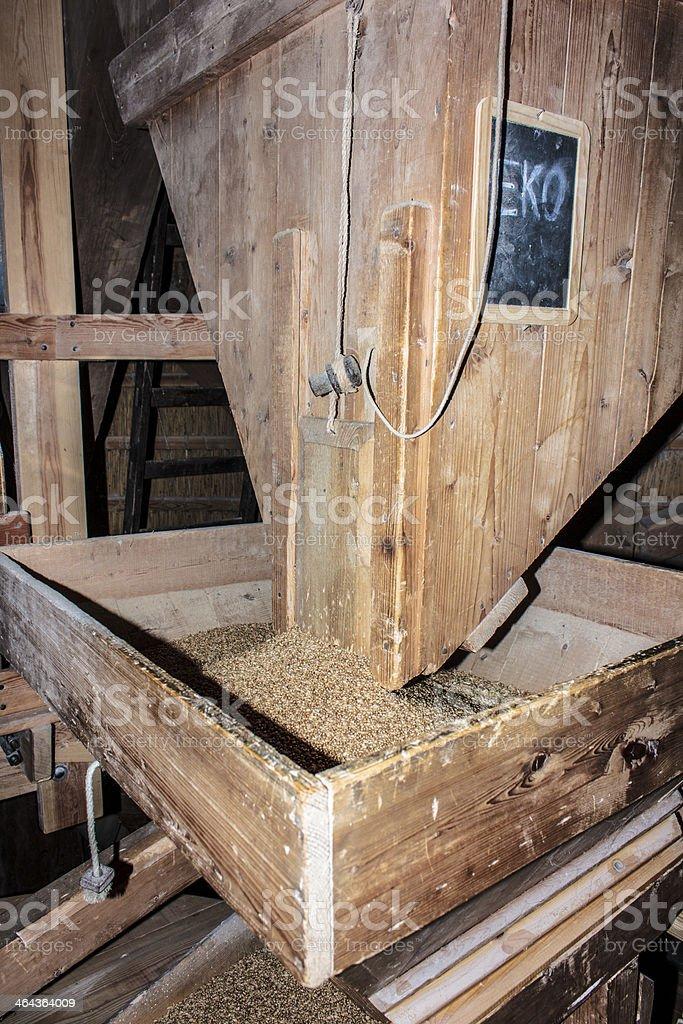 Windmill grain distribution royalty-free stock photo