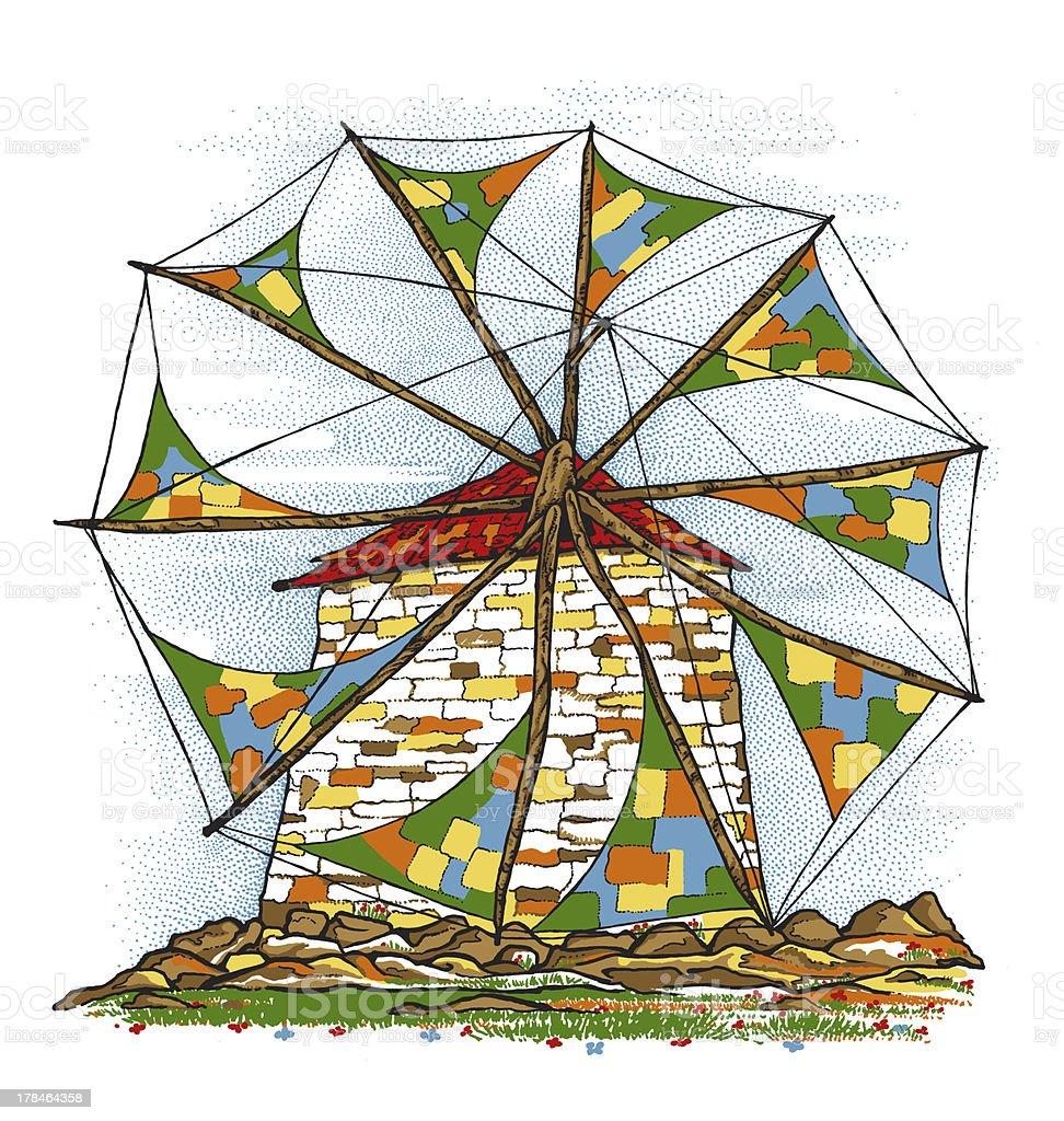Windmill Illustrations stock photo