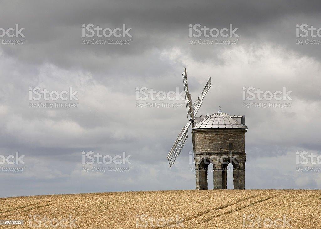 Windmill in a Wheat Field stock photo