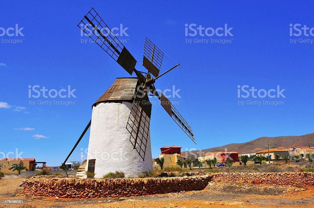 windmill in Antigua, Fuerteventura, Canary Islands, Spain stock photo