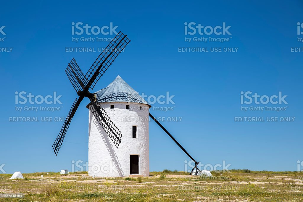 Windmill in Campo de Criptana stock photo