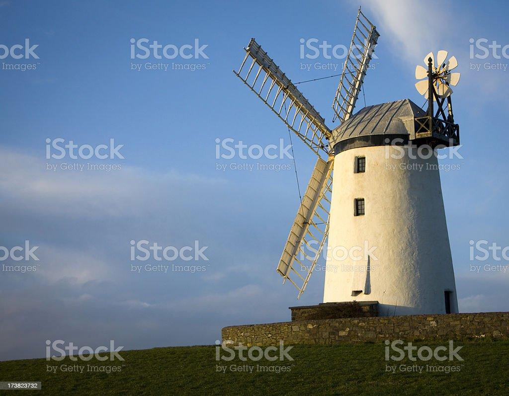 Windmill in evening sun royalty-free stock photo