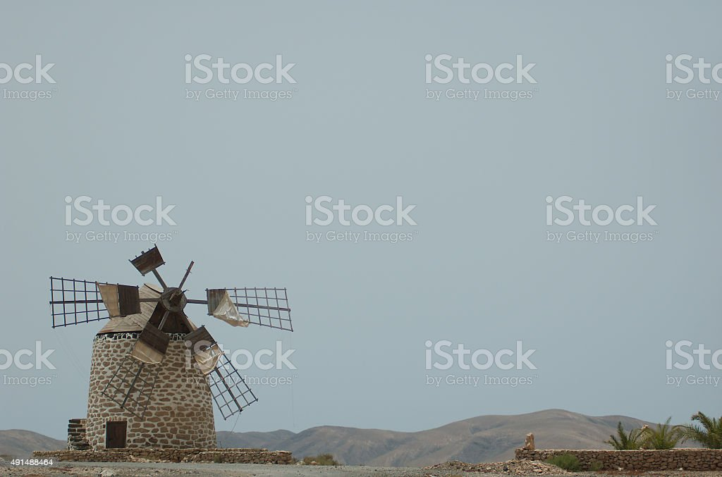 Windmill in Fuerteventura royalty-free stock photo