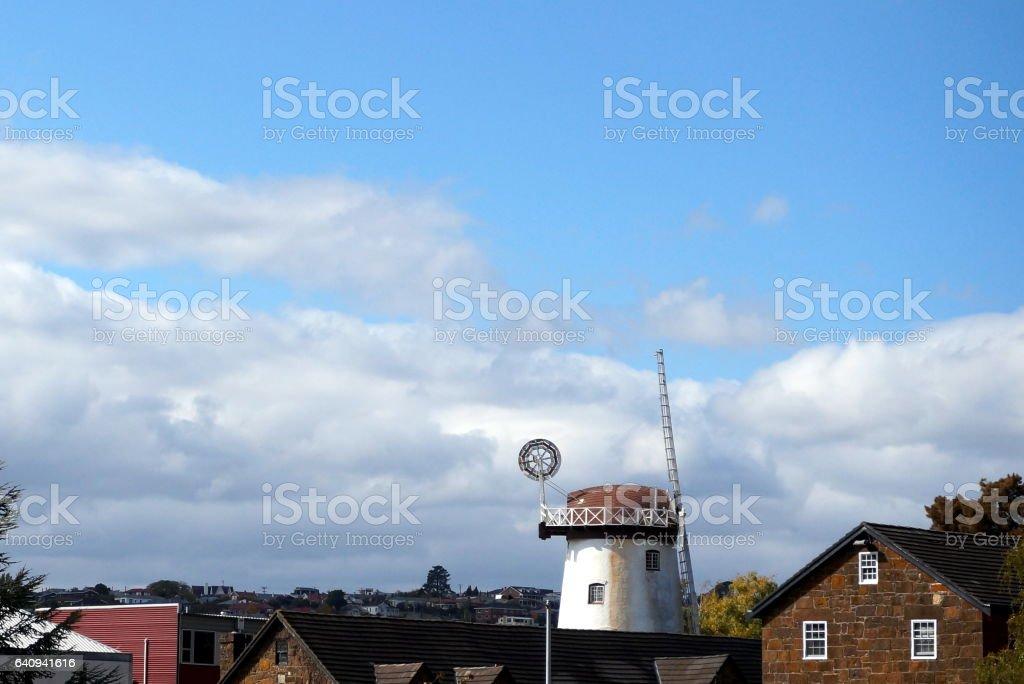 Windmill in Launceston stock photo