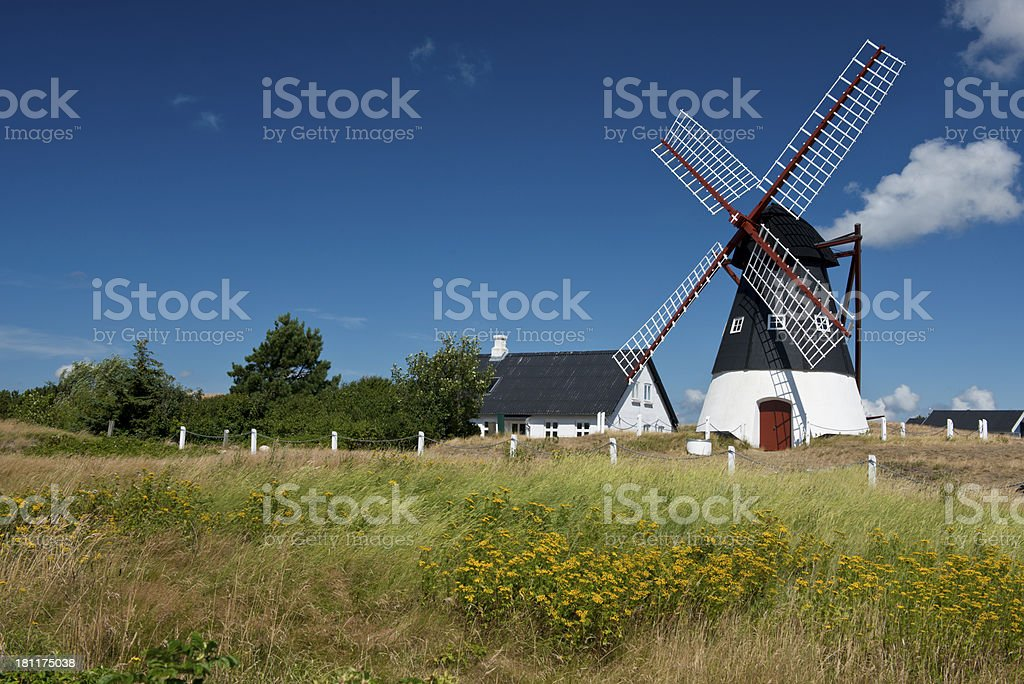 Windmill in Mando stock photo