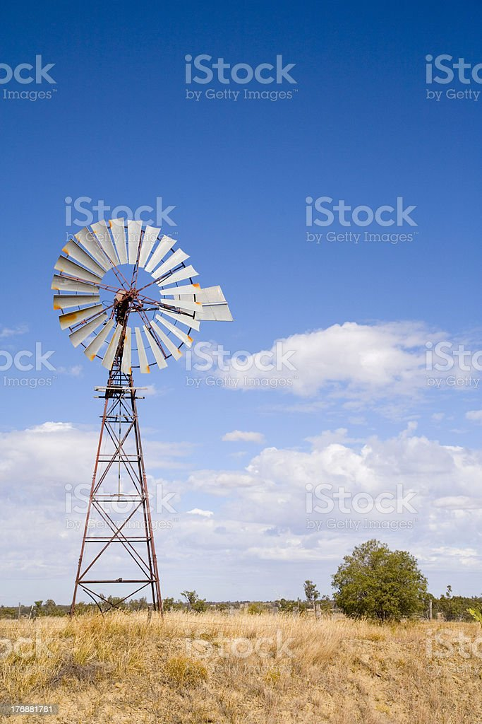 Windmill in Outback Queensland, Australia royalty-free stock photo