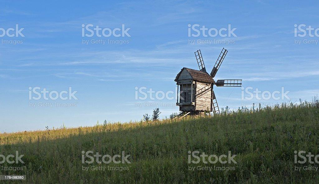 Windmill in Pirogovo royalty-free stock photo