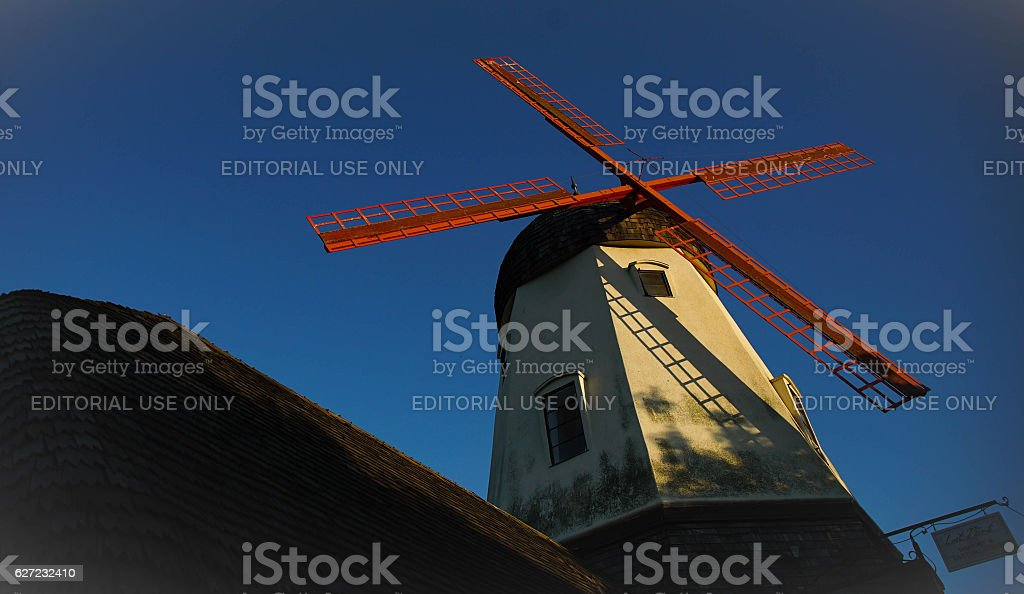 Windmill in Solvang, California stock photo