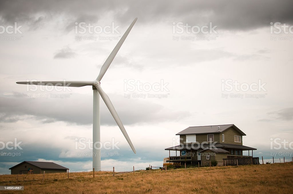Windmill in the midst stock photo