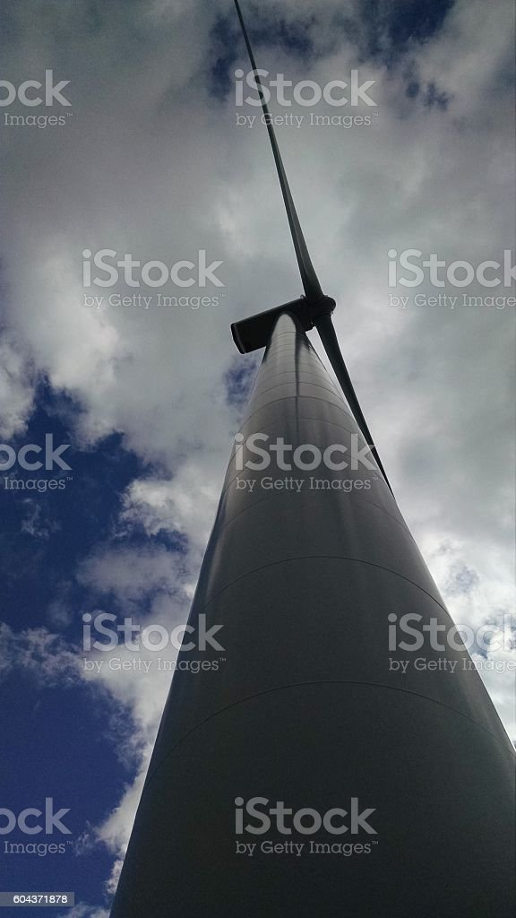 Windmill in Upstate New York stock photo