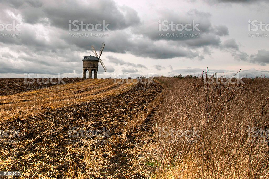 Windmill in Warwickshire stock photo