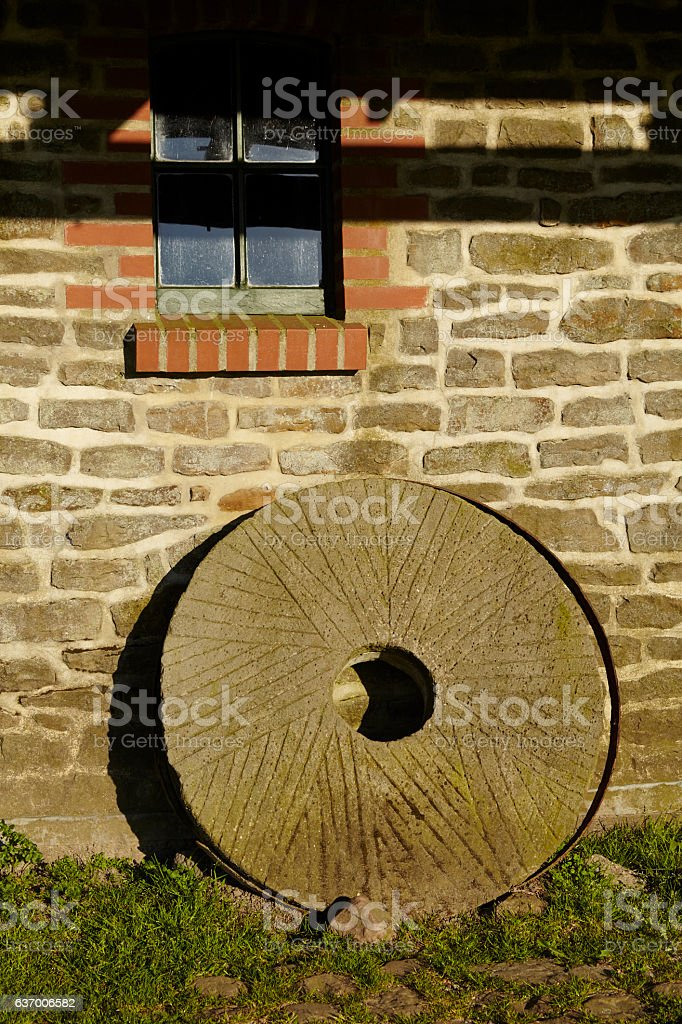 Windmill Levern (Stemwede, Germany) - mill wheel stock photo