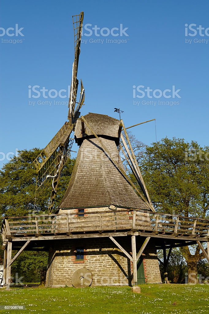 Windmill Levern (Stemwede, Germany) stock photo
