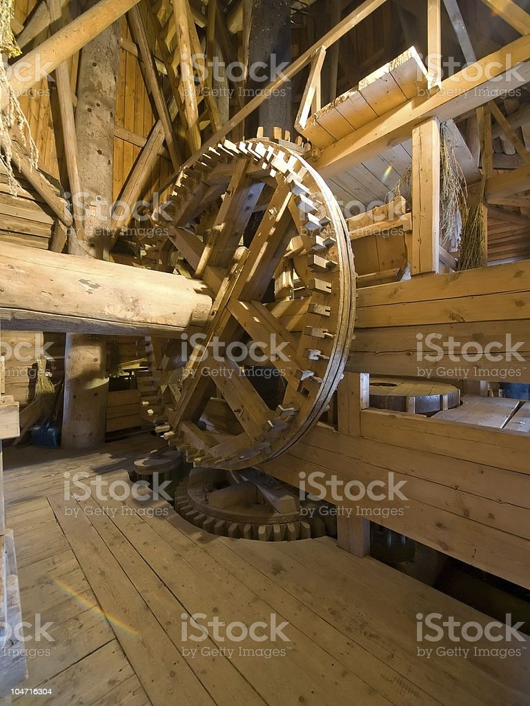 Windmill mechanizm royalty-free stock photo