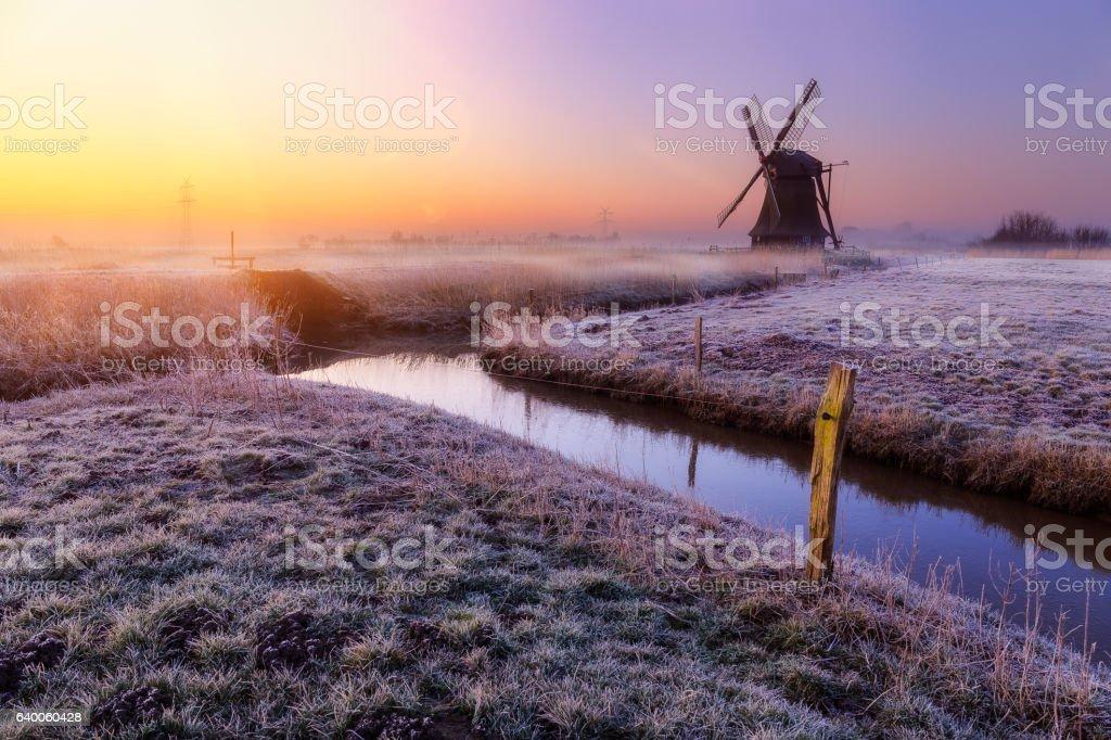 Windmill near Sande stock photo