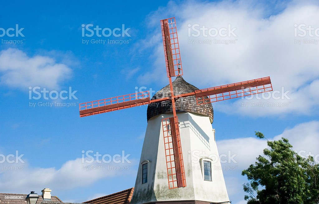 Windmill of Solvang, California stock photo