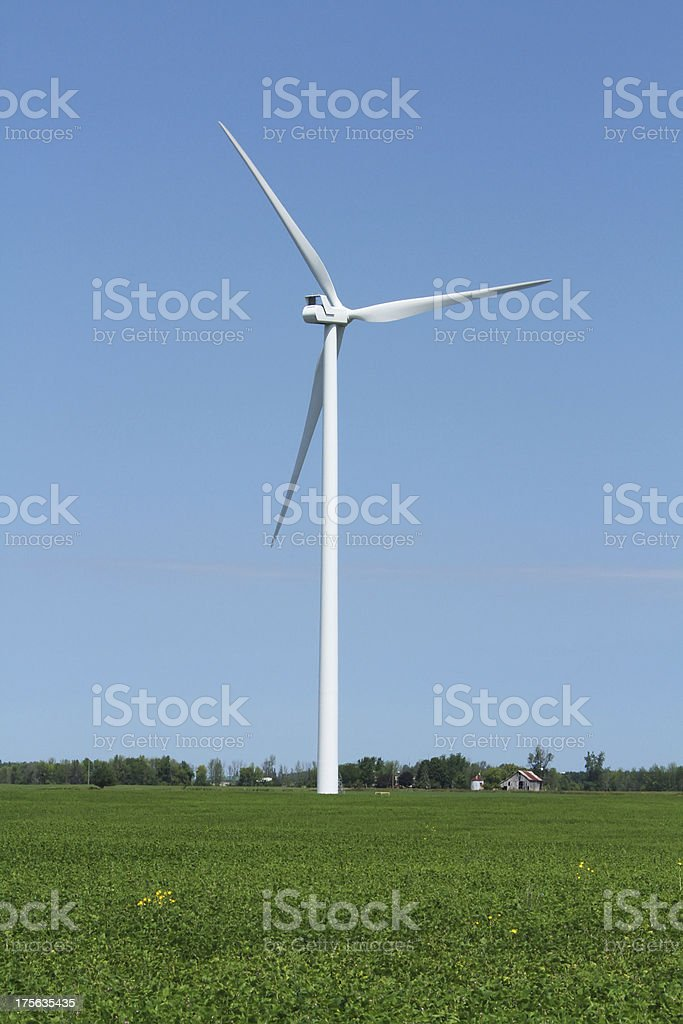 Windmill on the Farm. Wind Turbine Electricity Power Generator. Michigan. royalty-free stock photo