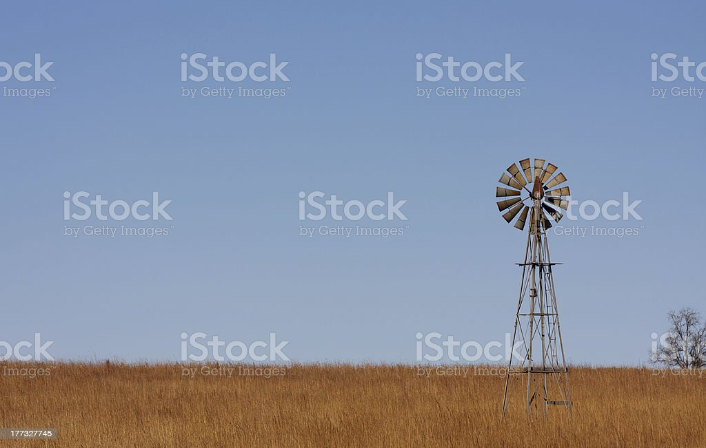 Windmill on the Plains stock photo
