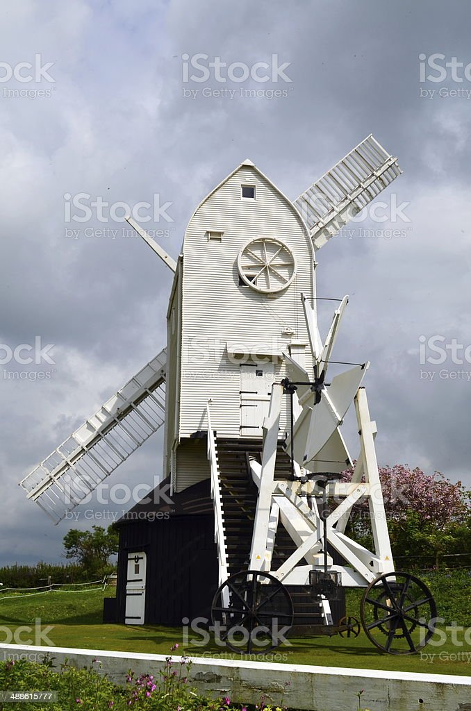 Windmill sweeps repair. stock photo