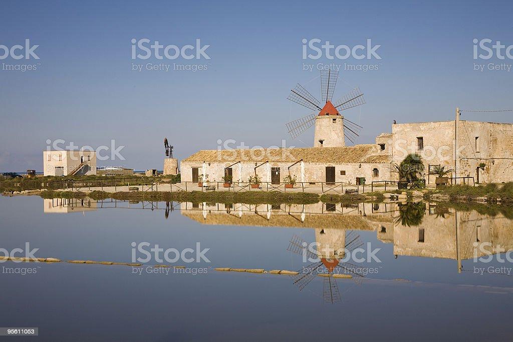 Windmill, Trapani stock photo